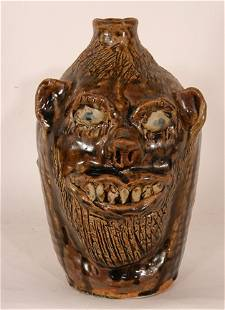 Marie Rogers. Toothy Bearded Face Jug.