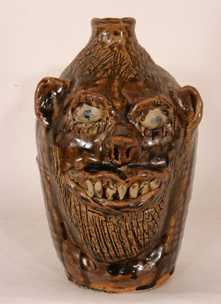 23: Marie Rogers. Toothy Bearded Face Jug.