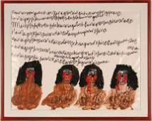 262: Dwight MacIntosh. Four Female Figures.Watercolor,