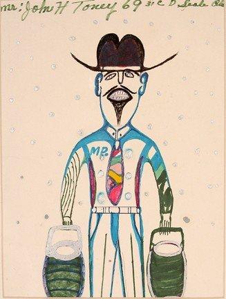 970: John H. Toney. Man w 2 Buckets.