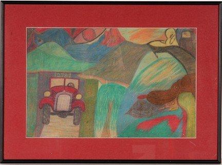 1049: John Robert Ellis. Red Car, Red Eye.