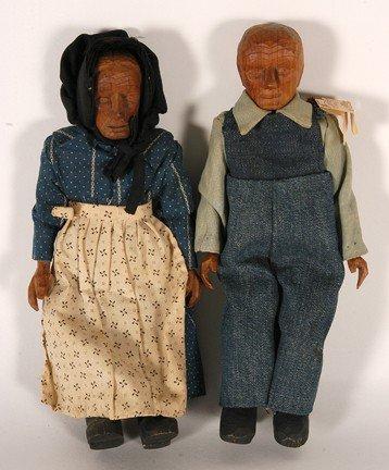 1071: PollyPage. Carved Folk Art Dolls.
