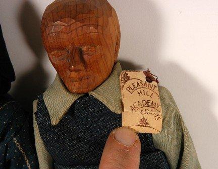1071: PollyPage. Carved Folk Art Dolls. - 2