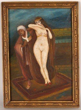 1073: White Slavery Painting.