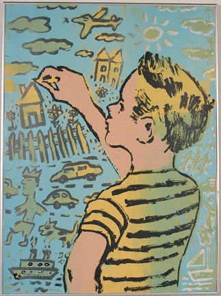 1084: David Bromley. Boy In Yellow.