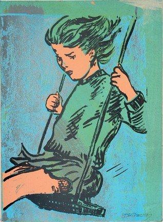 1086: David Bromley. Girl On Swing.
