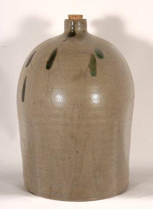 R.M. Rose Distillers. GA 3 Gal Salt-Glazed Jug.