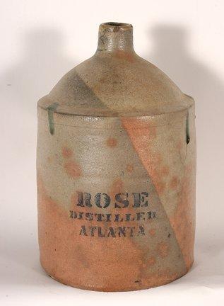R.M. Rose Distillers.  Salt-Glazed Jug.
