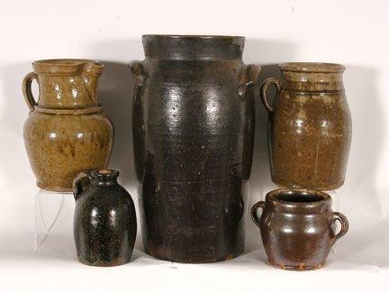 Anonymous. Five Utilitarian Pots.