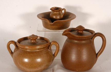 W.J. Gordy. 3 Small Pottery Pieces.