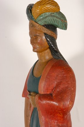 Tobacconist Figure Indian Princess. - 10