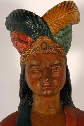Tobacconist Figure Indian Princess. - 4