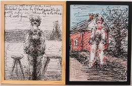 Malcolm McKesson Pair of Drawings