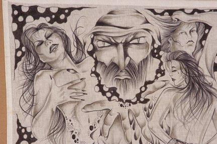 TX Chicano Prison Art Panos. - 2