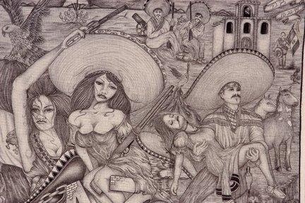TX Chicano Prison Art Panos. - 5
