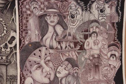 TX Chicano Prison Art Panos. Four Panos. - 3
