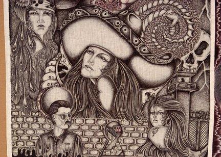 TX Chicano Prison Art Panos. Four Panos. - 4