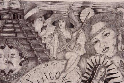 TX Chicano Prison Art Panos. Four Panos. - 5