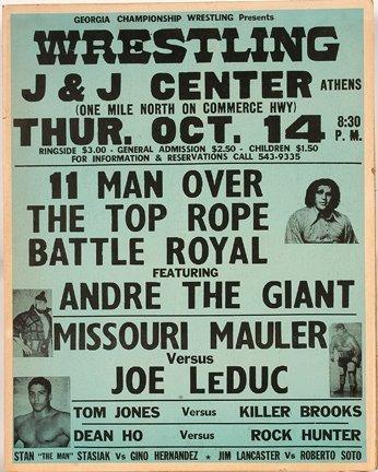 826: GA Wrestling Poster. 11 Man.