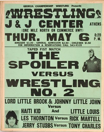 827: GA Wrestling Poster. The Spoiler.