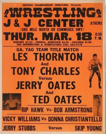 828: GA Wrestling Poster. Rare Womens' Match.