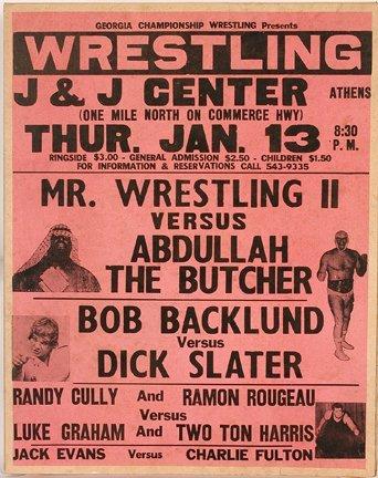 830: GA Wrestling Poster. Abdullah The Butcher.