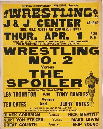 831: GA Wrestling Poster. The Spoiler.