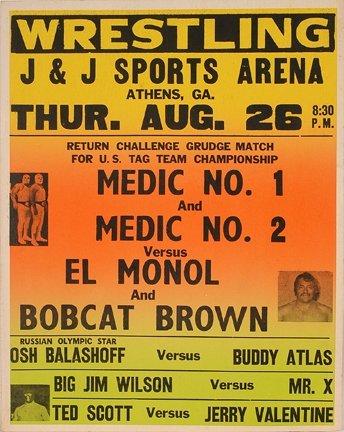 833: GA Wrestling Poster. Grudge Match.