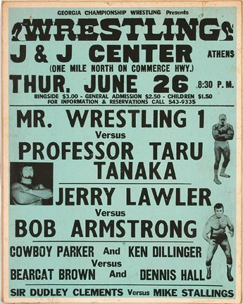 835: GA Wrestling Poster. Professor Taru Tanaka.