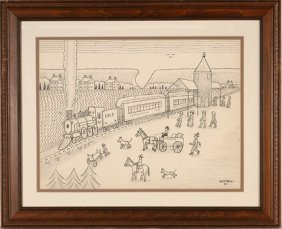 Jack Savitsky. Lackawanna Railroad Train.