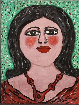 956: Anderson Johnson. Woman w Red Necklace.