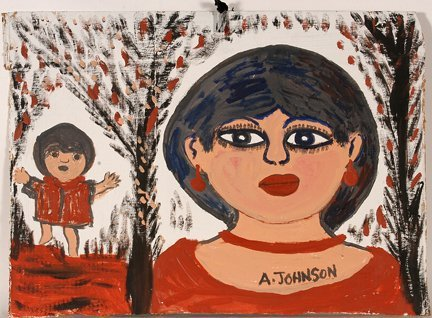 957: Anderson Johnson. Mother & Child In Red.