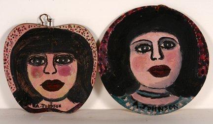 960: Anderson Johnson. Two Small Portraits.