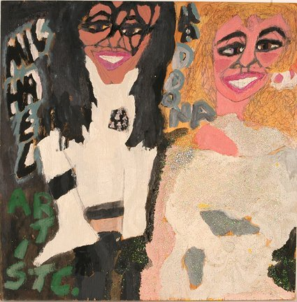 965: Artist Chuckie Williams. Michael & Madonna.