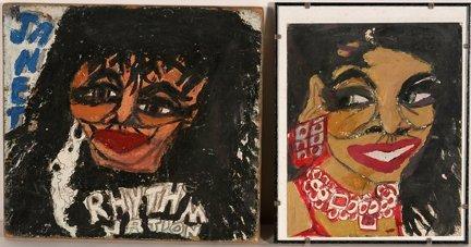 968: Artist Chuckie Williams. Abdul & Janet.