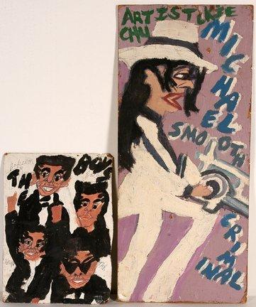 969: Artist Chuckie Williams. Jackson & Cityscape.
