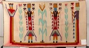 1289: Navajo Corn With Men Yei Rug.