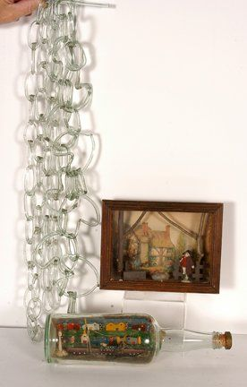Group of Three Glass Items.