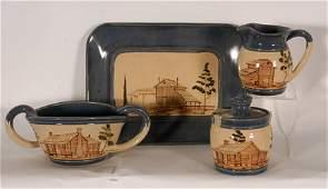 1454: Winston & Rosa Eugene. 4 Pottery Pieces