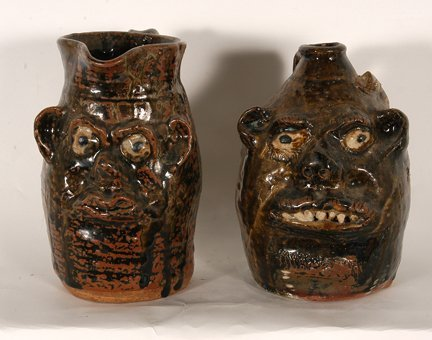 11: Marie Rogers. Face Jug & Face Pitcher.
