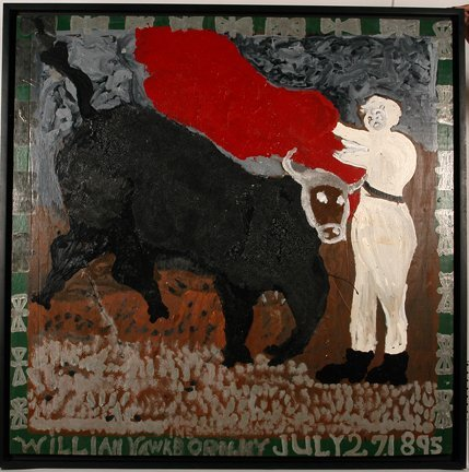134: William Hawkins. Charging Bull With Matador.