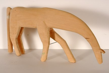 319: Minnie & Garland Adkins. Natural Wooden Horse. - 2
