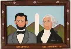 807: Frank Pickle. Lincoln, Washington & Monument.
