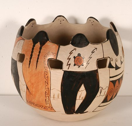 838: Angea Tohono O'odham. Indian Circle Pot.