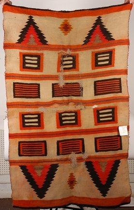 845: Navajo Blocks & Teepees Native Am. Blanket.