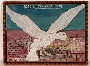 Howard Finster. Great Speckle Bird.