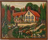 Victor Joseph Gatto.  Dbl-Sided Vase & Home.