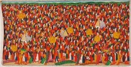Haitian Casimir. Crowded Market Scene.