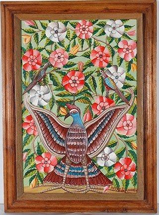 Pierre Joseph Valcin. Oiseau Avec des Fleurs.