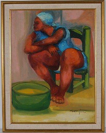 Duidonne Cedor. Femme Avec Un Bol.